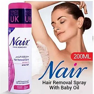 Nair Hair Remover (Hair Removal Spray With Rose Extract & Baby Oil (200 ML)