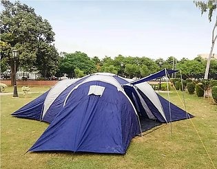 FOUR PORTION 12 TO 15 PERSON CAMPING TENT THREE ROOMS