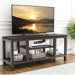 TV Stand, Media Stand for 60  TV with Shelves Console Table for Living Room