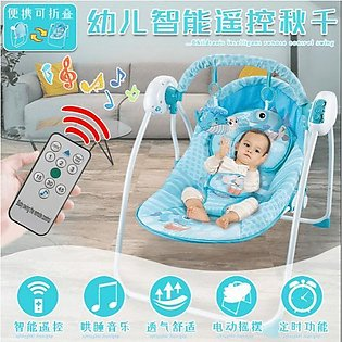 Original Electric Swing with Remote Baby Rocker Different Music, baby playing a…