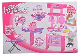 2in1 Kitchen Set Toy with Iron Stand