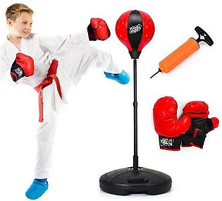 Tech Tools Boxing Ball Set with Punching Bag, Boxing Gloves, Hand Pump & Adjust…