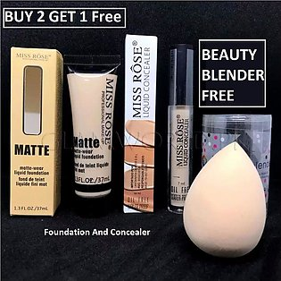 BUY 2 GET 1 FREE - Deal of Miss Rose Makeup Foundation  Full Coverage and Miss …
