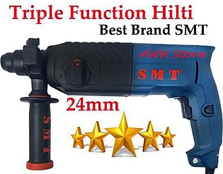 24MM Rotary Hammer Drill Machine Triple Function with Extra Drill Bits, Chuck, …