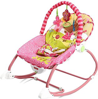 Baby Infant Rocker Bouncer Chair Music Swing Toys Sleeper Cradle Seat - Pink