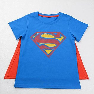 Boys ' Summer Kids Superman Short Sleeve Home Dress Top Children'S Wear Baby Gi…