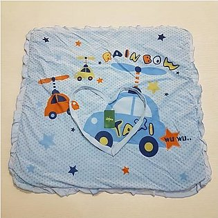 New Cartoon Printed Baby Blanket/Wrapping Shawl/Swaddle For Babies In BLUE Colo…