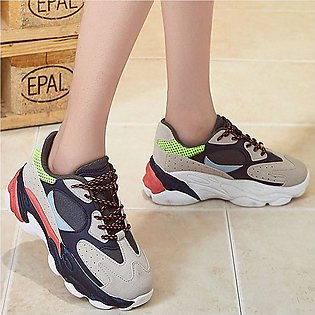 ✫Good Quality✫  Women's Outdoor Running Shoes Lace-Up Sport Cushion Casual Shoe…