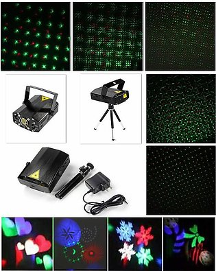 Mini Projector Disco LED Light Stage R&G Party Show Lighting Laser Tripod