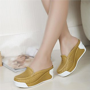 Women Ladie's Fashion Wedges Casual Slingbacks Pumps Slip On Shoes Sandals