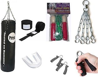 punching bag with chain hand grip fitness hand wrap bandages Gym home used