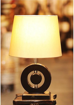 Wooden Table Lamp Pair
