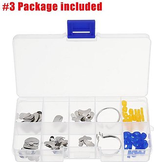 100Pcs Dental Sectional Contoured Metal 2Pcs Ring 20pcs Add-On Silicone Wedges