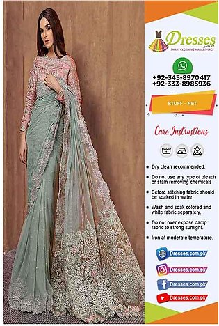 Maria B Bridal Wedding Saree Online
