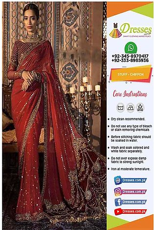 Maria B Mbroidered Saree Online