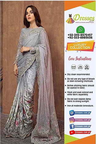 Maria B Wedding Saree Online