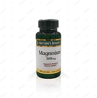 Nature's Bounty Magnesium 500mg 100 Coated Tablets
