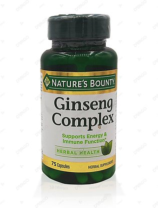Nature's Bounty Ginseng Complex 75 Capsules