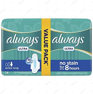 Always Ultra Sanitary Pads Extra Long Value Pack 14 Count