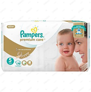 Pampers Premium Care Diapers Extra Large Size 5 48 Count