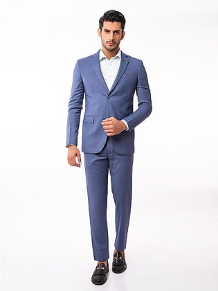 EMTSB19SF-8108 - 2 Piece Suit - Denim Blue