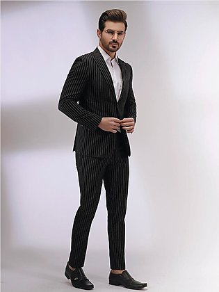 EMTSB19-8132 - 2 Piece Suit - Black