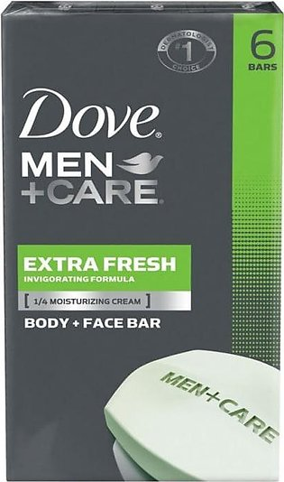 Dove Men+Care Body and Face Extra Fresh Soap Bar 6 Count 678g