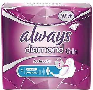 Always Diamond Thin Sanitary Pads 7 Pads