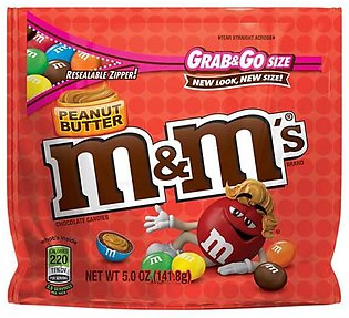 M&M'S Peanut Butter Chocolate Candy Grab & Go Size 141.8g