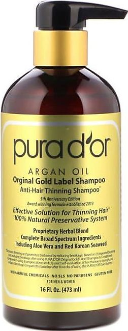 Pura D'or Anti-Hair Thinning Shampoo 473ml