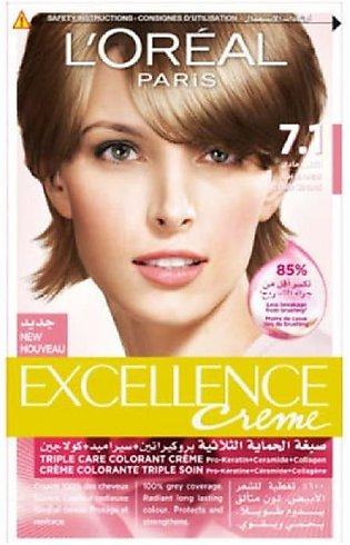Loreal Excellence Hair Color Light Blonde 7.1