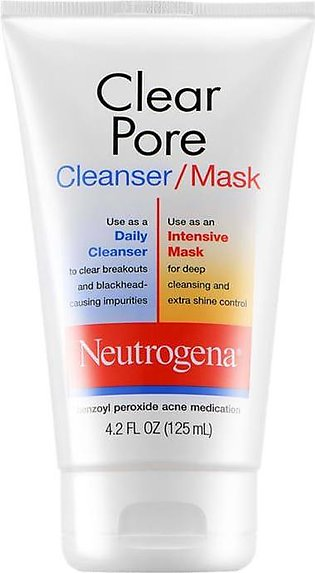 Neutrogena Clean Pore Cleanser/Mask 125ml