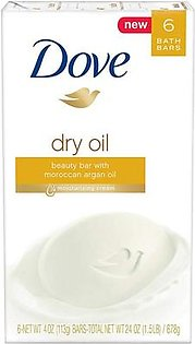 Dove Beauty Dry Oil Soap Bar 6 Count 678g
