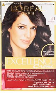 L'Oreal Paris Excellence Creme 4.1 Brown Hair Color