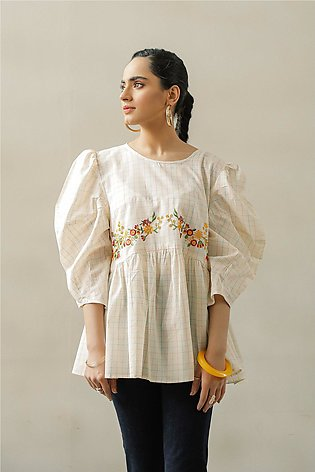 EMBROIDERED TOP (WTF111551)