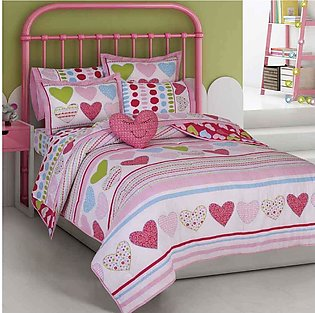 Kid's Heart's Style 4-Pc Comforter Set