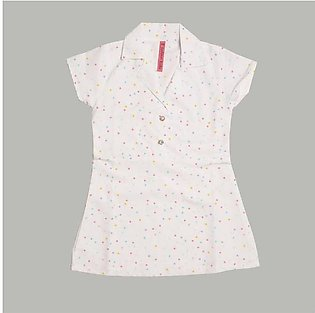 Safina Kid's Dotted Short Sleeve Frock