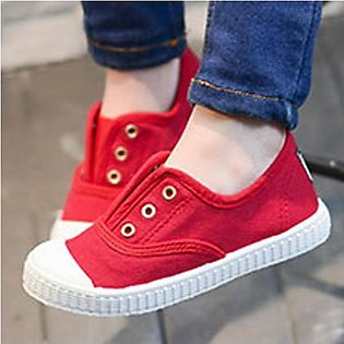 Opoee Candy Color Children Canvas Shoes