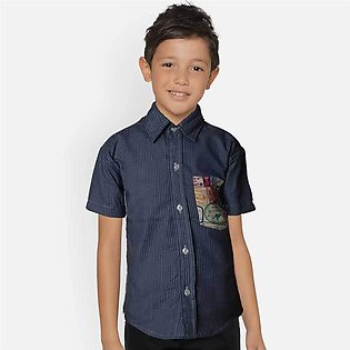 Kid's Arcylic Short Sleeve Casual Shirt