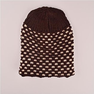 MB Sleek Doted Style Winter Knitted Beanie Cap