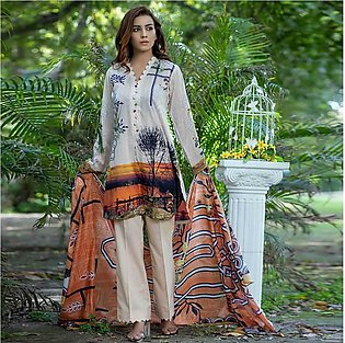Nain Sukh By Indicot ID 003 Women's Beitunia Unstitched 3 Pcs Lawn Suit