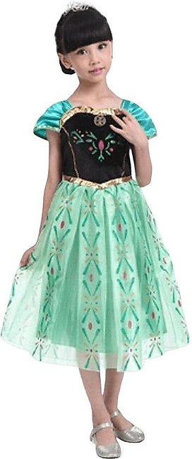 Frozen Princess Anna Sequins Short Sleeve Frock