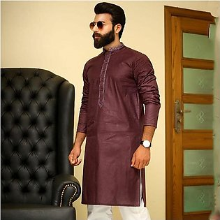 Men's Premium Front And Band Embroidery Kurta