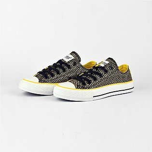 Baoda Women Fashion Shantou Jacquard Design Lace Up Canvas Shoes