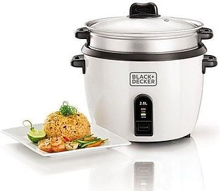 Black & Decker RC2850 Automatic Rice Cooker & Glass Lid