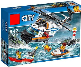 LEPIN City Rescue Helicopter Building Blocks Set