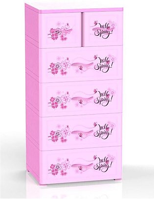 Duytan Cute Pink Nice Design Plastic Cabinet With 6 Large Compartments