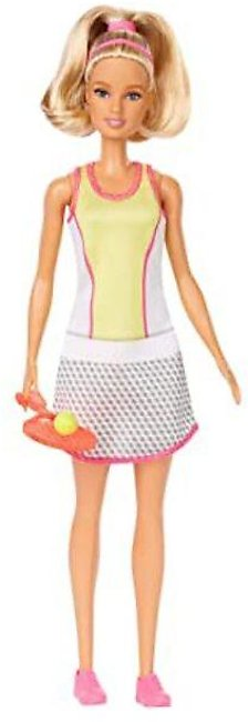 Barbie Blonde Tennis Player Doll With Tennis Outfit