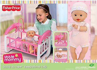 Fisher Price Sleepytime Cot with Doll