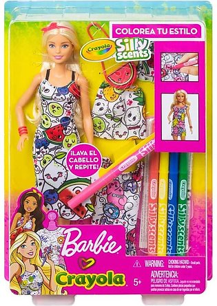Barbie Crayola Color in Fashions Doll